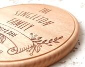 Personalized cutting board, luxury mahogany wood custom engraved cutting board, cheese board, serving board, wedding, anniversary gift