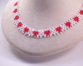 Hearts Afire Beaded Necklace