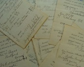125 Year Old Numbered Antique Amazing Receipts 1800s lot