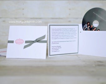 Custom cd sleeve/holder for digital photography business ANY COLORS