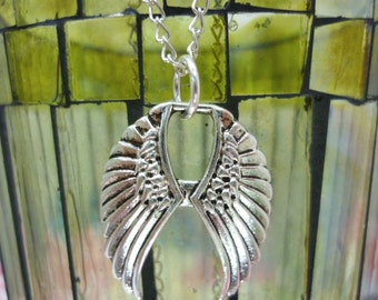 Celestial Double Angel Wings Pendant
