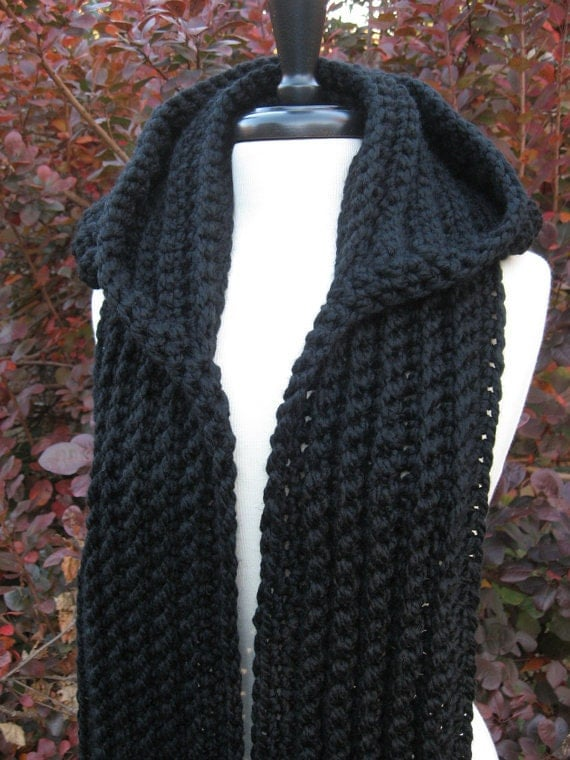 hooded scarf: NEW 891 NORDIC HOODED SCARF CROCHET PATTERN PDF