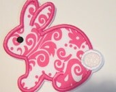 Easter Bunny Iron On or Sew On Embroidered Custom Made Applique  READY TO SHIP in 3-7 Business Days
