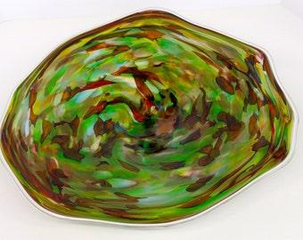 Wall Art Glass Blown Platter 263
