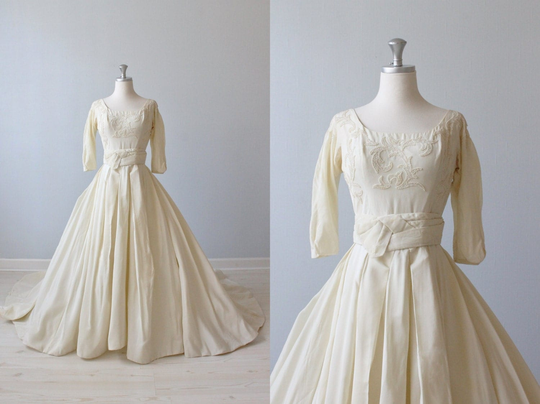 1950s Wedding Dress Ballroom Wedding Dress by