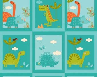 SPRING SALE - Dinosaur - Patch in Blue - Sku C4161 - 1 Yard - by The Rbd Team for Riley Blake Designs