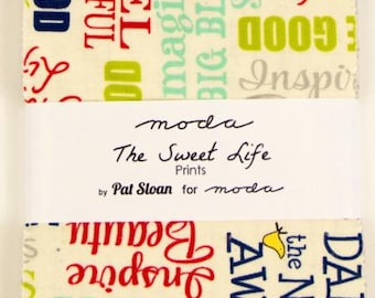 FALL SALE - The Sweet Life - Charm Pack - 43050PP - by Pat Sloan for Moda Fabric