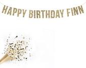 Custom Happy Birthday Banner. Birthdays. Kids Parties. 30th Birthday. Adult Birthday. Gold Glitter