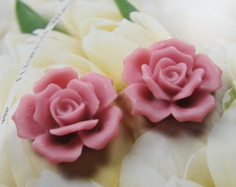 27mm - Purple Rose Cabochon - 4 pcs (CA835-D)