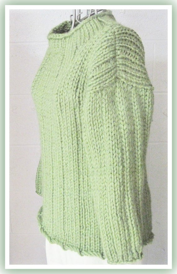 Knitting Patterns Bulky Yarn Sweater : Loose Long Bulky Sweater Knitting Pattern for Teen to Adult