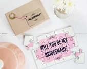 Will you be my Bridesmaid Jigsaw - Bridesmaid Proposal Personalised Jigsaw, Personalised Wedding - Bridesmaid Gift, Maid of Honor Gift
