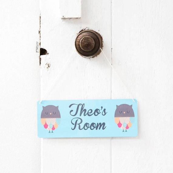Personalised Owl Children 39 S Bedroom Door Sign Or Wall