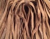 100 Primitive Rug Hooking (1/4 inch) Wool Strips - Tan Mix