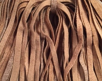 100 Primitive Rug Hooking (1/4 inch) Wool Strips - Tan Mix