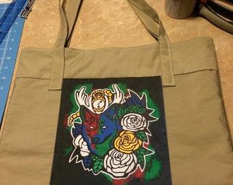 Native Tote Bag, KitThomasArt, Heirarchy of Life
