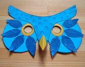 Owl Mask - Printable Mask - Paper Craft Kit - Kid's Activity