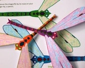 Balancing Dragonfly Toy - Printable Craft Kit - Kid's Craft Activity - Physics Toy