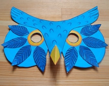 Owl Mask - Printable Mask - Paper Craft Kit - Kid's Activity
