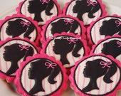 Retro silhouette cookies 1 dozen