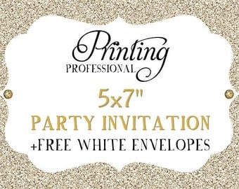 """Professional Printing Services - 5x7"""" Party Invitation"""