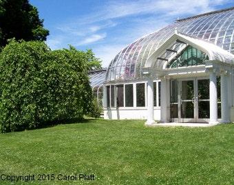 Highland Park Flower Conservatory Front Door Digital Photo