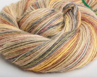 Hand-dyed Handspun bfl/silk single Kipuka - 425 yds