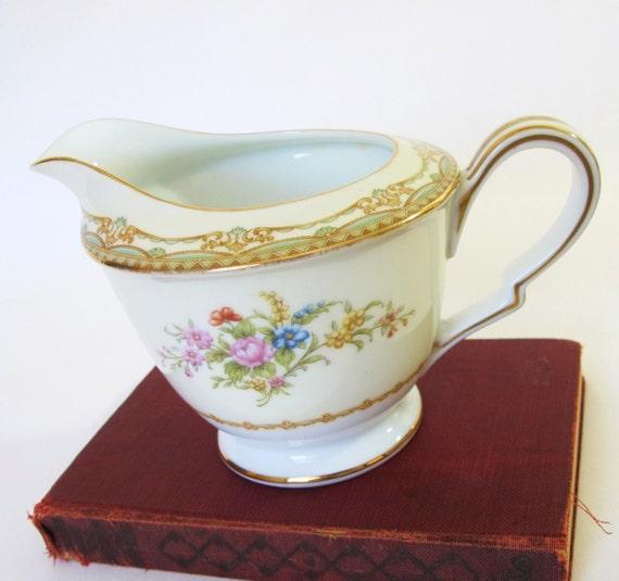 Vintage Noritake Cream Pitcher Sherwood China By Pinkpainter