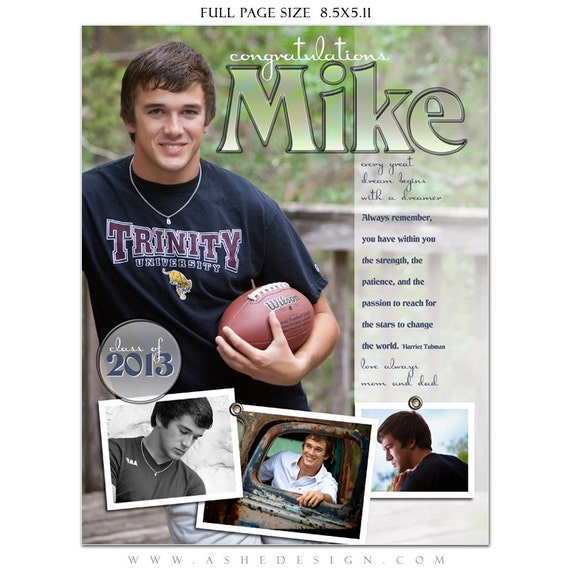 Senior yearbook ads photoshop templates hot shots high for Free senior templates for photoshop