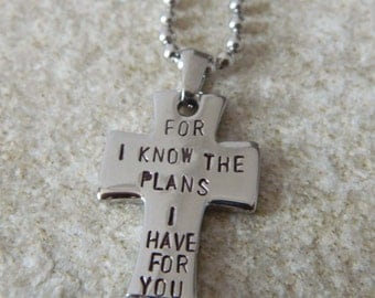 For I know the Plans I have for You Stainless Steel Cross Necklace