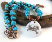 Horse Necklace, Turquoise Necklace, Copper Jewelry, Horse Jewelry, Southwestern Style