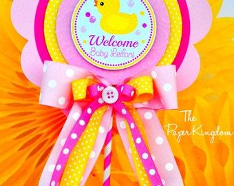 Rubber Ducky Centerpiece, Deluxe Birthday Centerpiece, Rubber Ducky Birthday or Baby Shower
