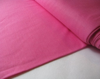 dark pink PAJAMA KNIT fabric, measures 64 nches by 10 yards