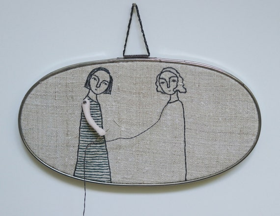 hand embroidery hoop art-you reap what you sew  no. 1 textile art fiber art