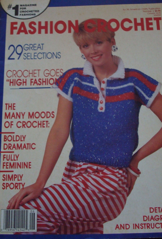 Patterns-Fashion Crochet Magazine6-1987/29 Vintage