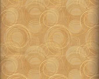 Priced Reduced!  Potpourri Golden Tan Kitchen Swirls (26062-252) - BTY - South Seas