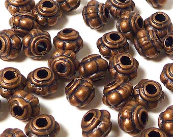 Copper Finished Pewter Spacer Beads for Jewelry Supply 100 per pack, 5mm #20002