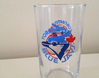 RETRO toronto blue jays GLASS vintage baseball MLB 80's