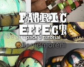 Polymer Clay Tutorial FABRIC EFFECT pack 3 tutorials