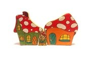 Gnone inside two houses puzzle play set custom order for Kara (grandma)