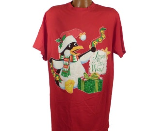 Ugly Christmas Sweater Vintage 1980s Shirt Jingle all the way