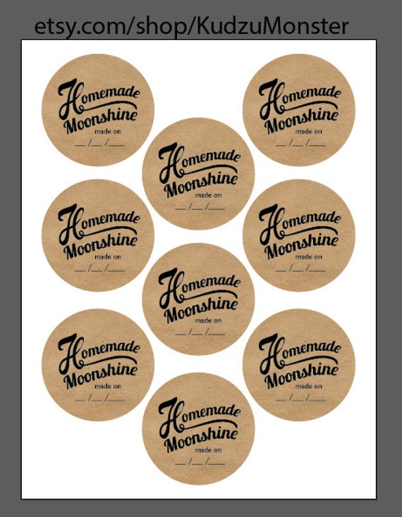 Moonshine Print At Home Labels And Tags For By Kudzumonster