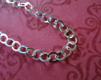 Shop Sale..Sterling Silver Chain, ROLO CHAIN, Necklace Chain, 3.8 mm, 10% Off Bulk..10 feet, medium weight, LL L551 hp
