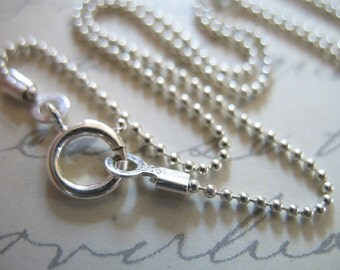 Shop Sale.. 1 pc, 16 18 20 24 inch, Sterling Silver Ball Chain, Finished Chain, 1 mm Ball, done, D33.16 d33.18 d33.t d33.20 d33.24 hp