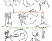 Darling Dancers Clear Polymer Stamp Collection