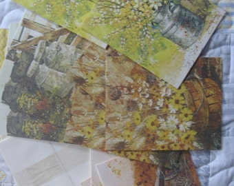 Lot of 10 Vintage Current Countrysides Blank Unused Notecards