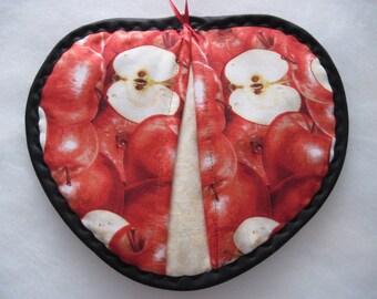 Hot pad pot holder pot pincher set  / apples