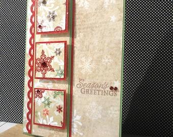 Holiday Card with Matching Embellished Envelope - Woodland Winter