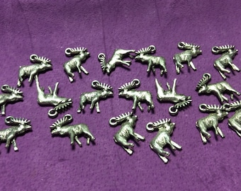 Moose Pewter Charms