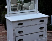 Antique White 3 Drawer Dresser or Buffet