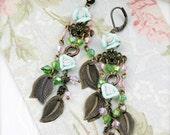 Reserved - Forest chandelier earrings